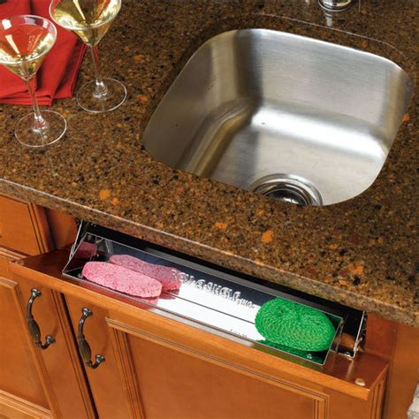 kitchen sink cabinet tray kitchen and vanity sink front tip out stainless steel