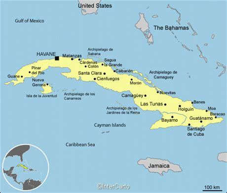 cuba map map  cuba