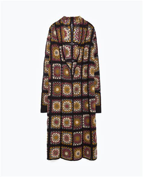 Zara Patchwork - zara patchwork crochet coat in brown lyst