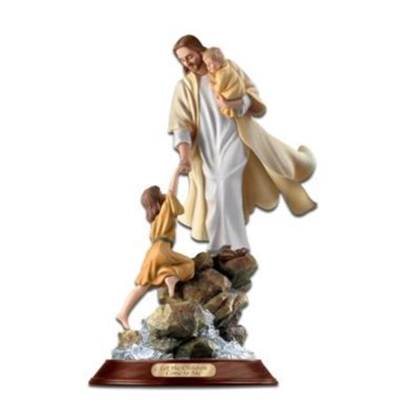 let the children come to me jesus figurine inspirational