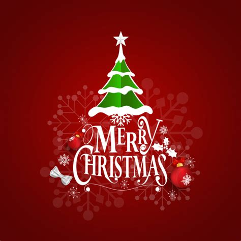 christmas greeting card  merry christmas lettering vector premium
