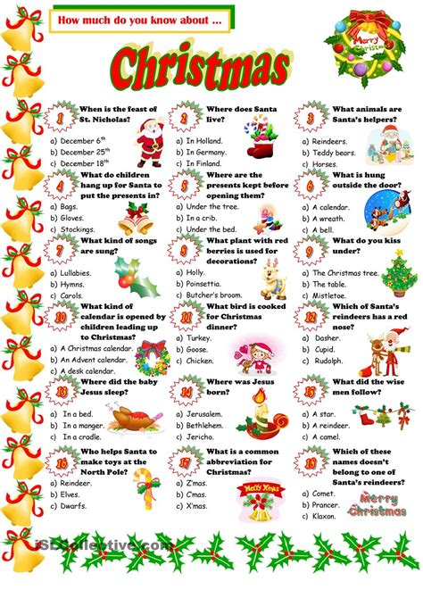 printable christmas quiz with pictures christmas quiz pinteres