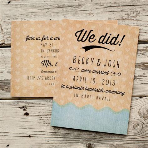 Wedding Announcement For Elopement by Wedding Announcement Wedding Announcements The