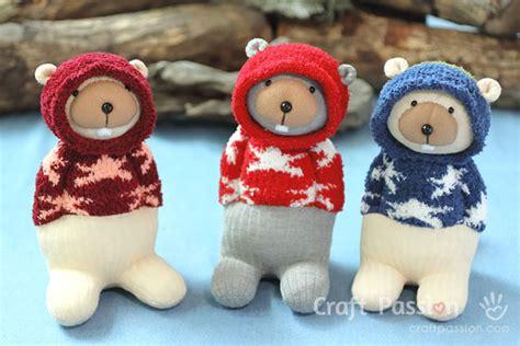 sock teddy craft sock sheep free sew pattern craft