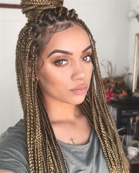 micro btaids dark in the back light in the front braids hairstyles for black women evesteps
