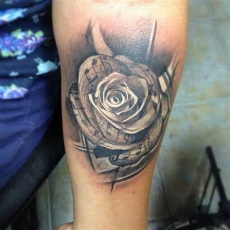 music note rose tattoo 31 best and note images on