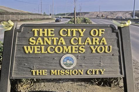 Ohio State Wall Murals quot the city of santa clara welcomes you quot sign santa clara