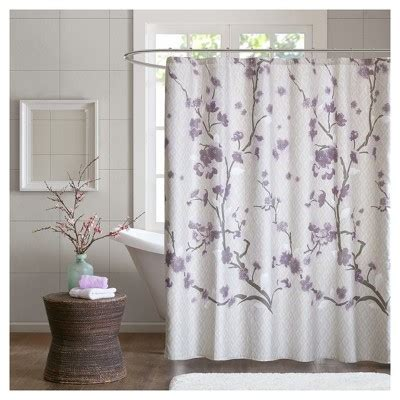white cotton shower curtain target sakura cotton printed shower curtains target