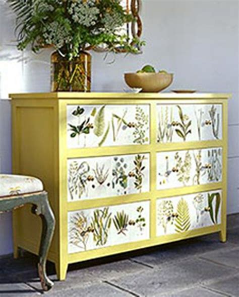 How To Decoupage A Dresser - decoupage dresser crafty