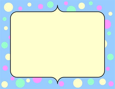 Frame clipart fun pencil and in color frame clipart fun