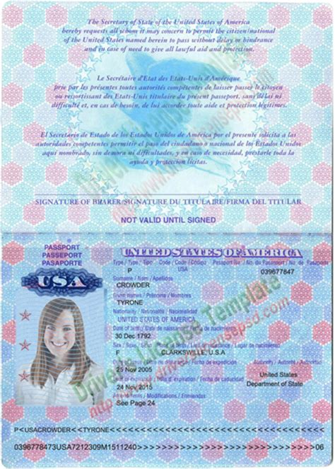 us passport template psd drivers license drivers license drivers license