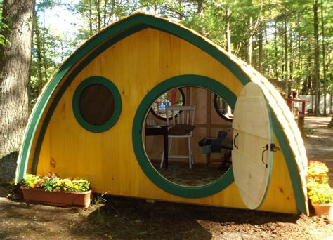 large hobbit playhouse kit outdoor wooden clubhouse