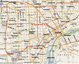Map Of Detroit Michigan by Detroit Michigan Location On Map Detroit Get Free Image