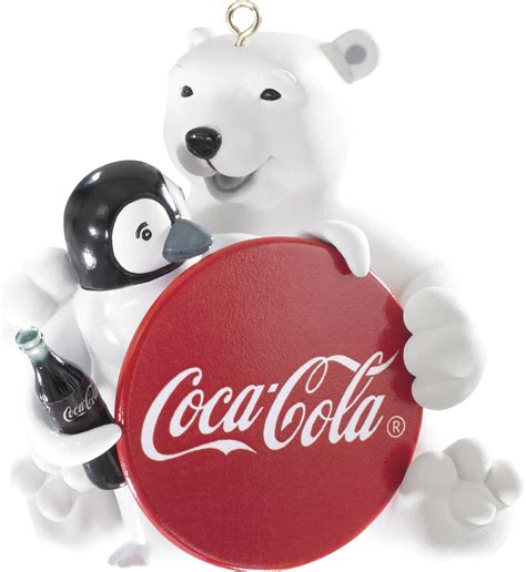 2014 coca cola polar bear christmas ornament carlton