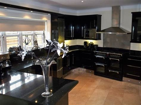 Images Of Kitchens With Black Cabinets Cabinets For Kitchen Kitchen Designs Black Cabinets