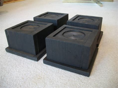extra wide bed risers wide bed risers set of 4 large oversize bed risers