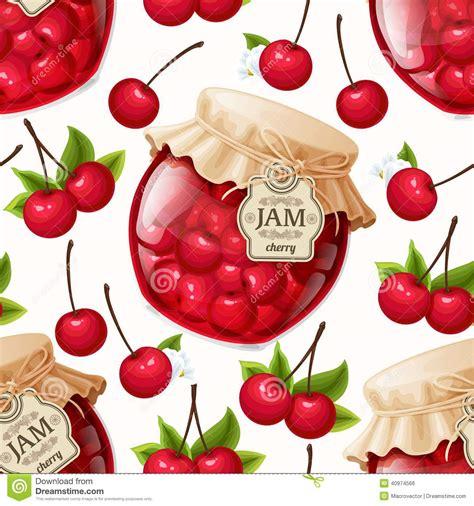 pattern of jam cherry jam seamless pattern stock vector image 40974566