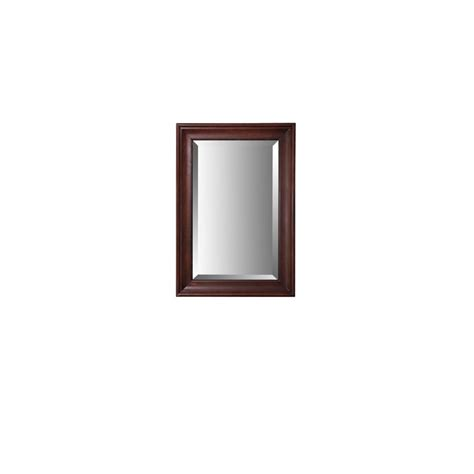Allen Roth Bathroom Mirrors Shop Allen Roth Rosemere 36 In H X 25 In W Auburn Rectangular Bathroom Mirror At Lowes