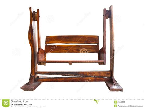 swing seat plans wooden garden swing seat stock image image of empty
