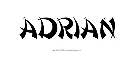 adrian tattoo adrian name designs