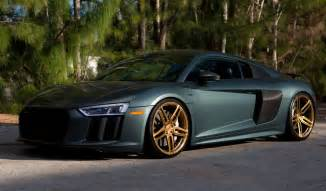 Audi V10 For Sale Green Matte 2017 Audi R8 V10 Plus On Vossen Wheels For Sale