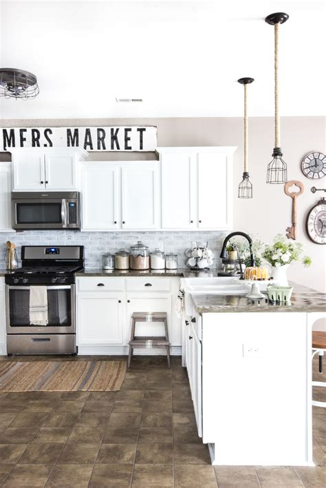 easy retrieval retro kitchen redo this old house remodelaholic how to make painted farmhouse signs the