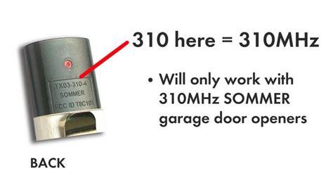 Sommer Garage Door Opener Manual sommer two button 310mhz garage door opener remote item 4054 001