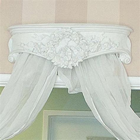 Ornate Corona Bed Crown Canopy 278 00 Thebellacottage Shabby Chic Bed Canopy
