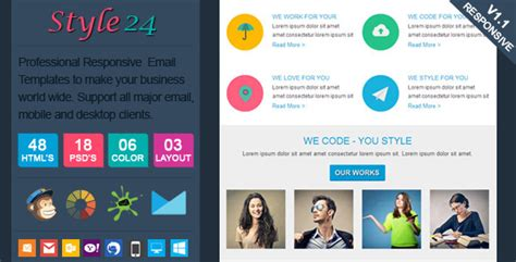 marketing style24 clean cool responsive email