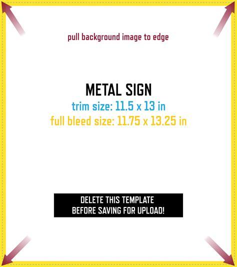 metal sign design template grogtag
