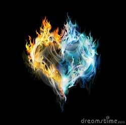 fire ice heart royalty free stock image image 12814376