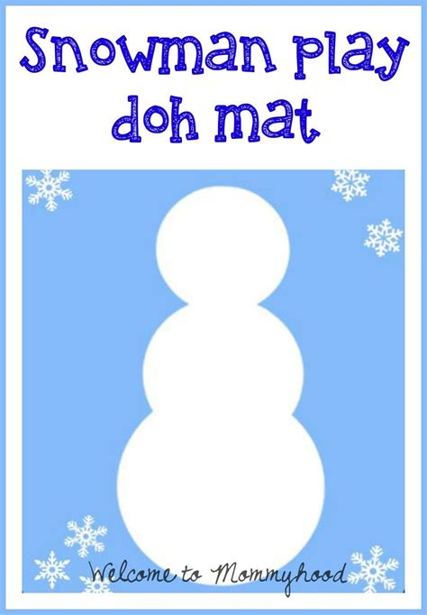 printable playdough mats playdough activities winter snowman play doh mat