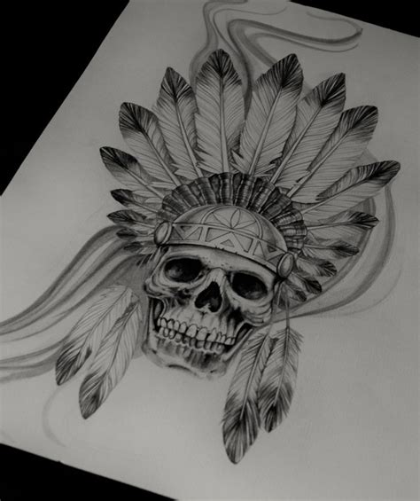 indian chief skull tattoo indian skull tattoos on indian skull american