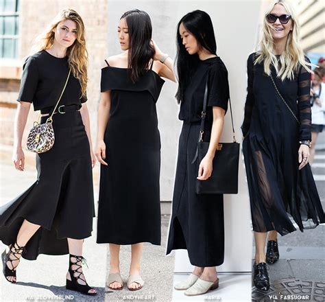 minimalistic look get inspired by 8 minimal black looks blue is in fashion