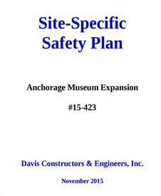 site specific safety plan template construction choice