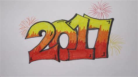graffiti tekenen graffiti 2017 tekenen gelukkig nieuwjaar