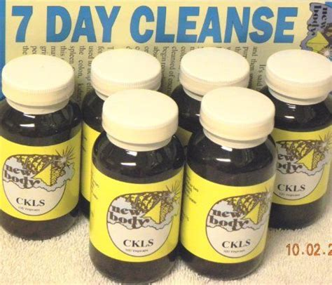 New Ckls Detox by Ckls Colon Cleanser Herbal Formula Six Pack 6 By New
