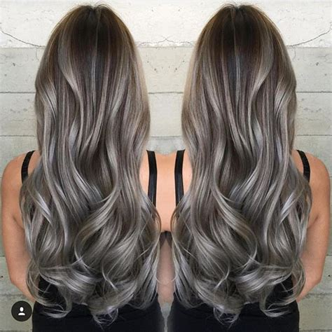 ash gray color best 25 ash gray balayage ideas on ash hair