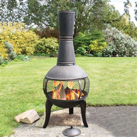 Cast Iron Chiminea Reviews Deeco Dm 3061 Ia Tuscan Glo Cast Iron Chiminea Pit