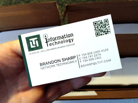 Business Card Information