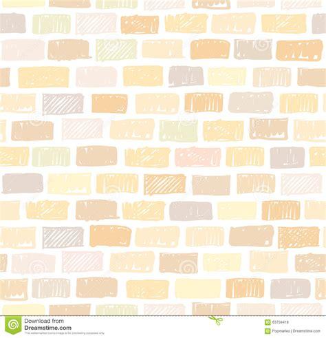 brick pattern drawing brick wall light seamless pattern drawing stock vector