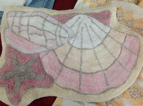 peach bathroom rugs lot detail variety lot peach color quilt shell rugs 3 piece bathroom set never