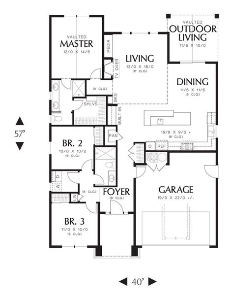 mascord floor plans mascord house plan 1168es house plans outdoor living and an
