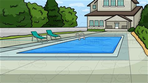 pool in the backyard a backyard pool background clipart vector