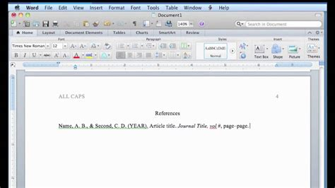 format apa in word apa format in word for mac youtube