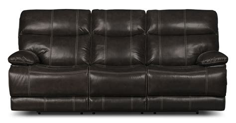 Genuine Leather Reclining Sofa Gavin Genuine Leather Reclining Sofa Grey United Furniture Warehouse