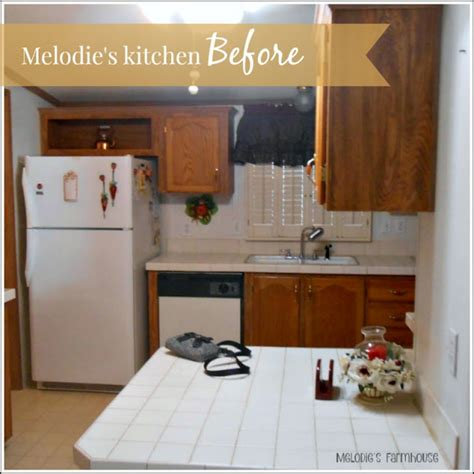 my heart s song kitchen makeover phase two melodie s magnificient modern manufactured home makeover