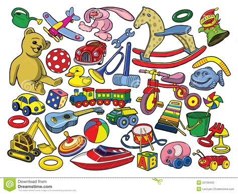 vector illustration  hand drawn toys stock photography