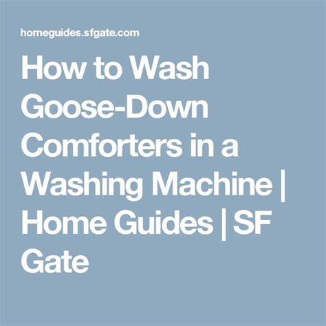 how to wash goose down comforter 25 best ideas about washing down comforter on pinterest