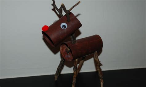 How To Make A Paper Reindeer - how to make a paper roll rudolph reindeer education